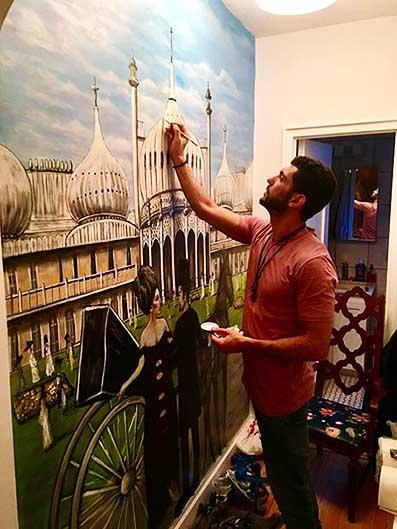 ציור קיר סצנה