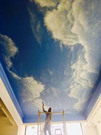 ציור קיר של עננים