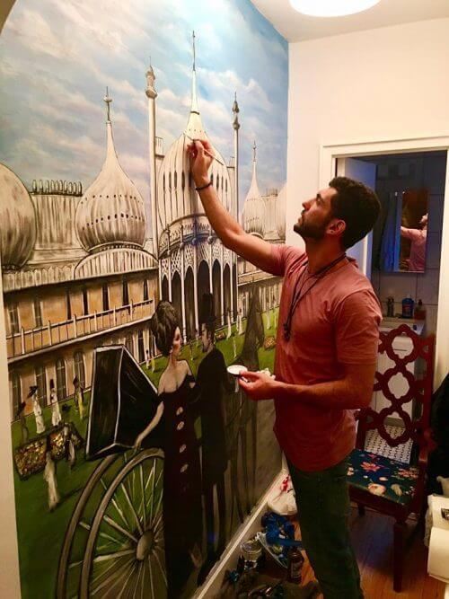 ציור קיר לסלון