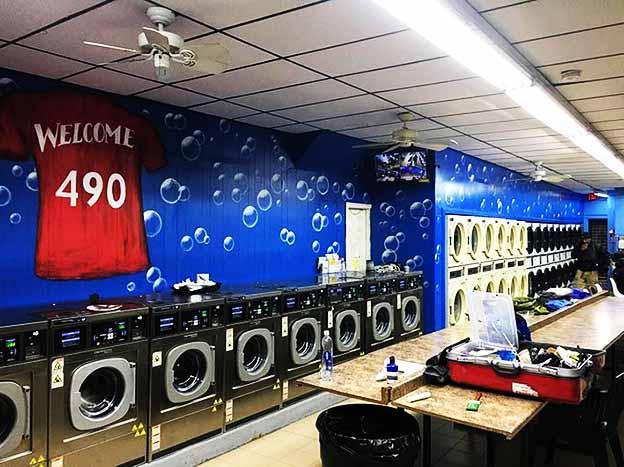 על קירות של המכבסה
