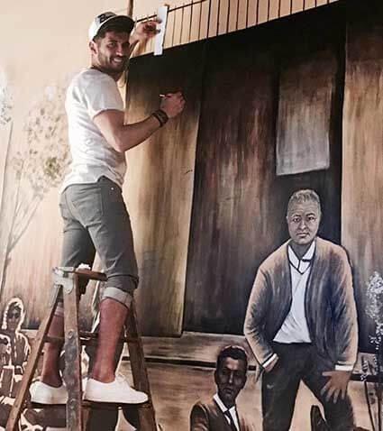 ציור על קיר גדול