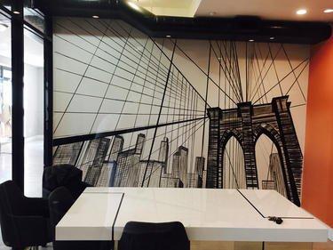 שרטוט של גשר ברוקלין