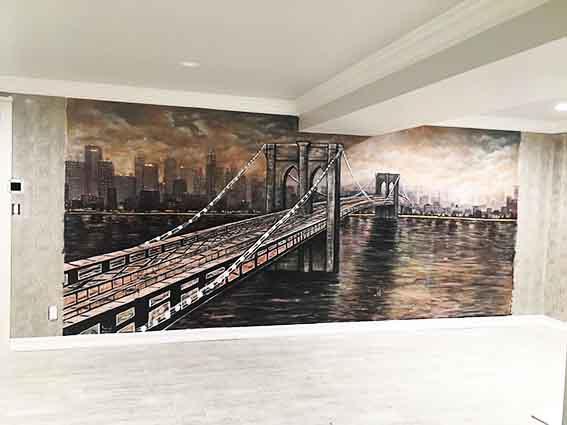 גשר ברוקלין על קיר אחרי
