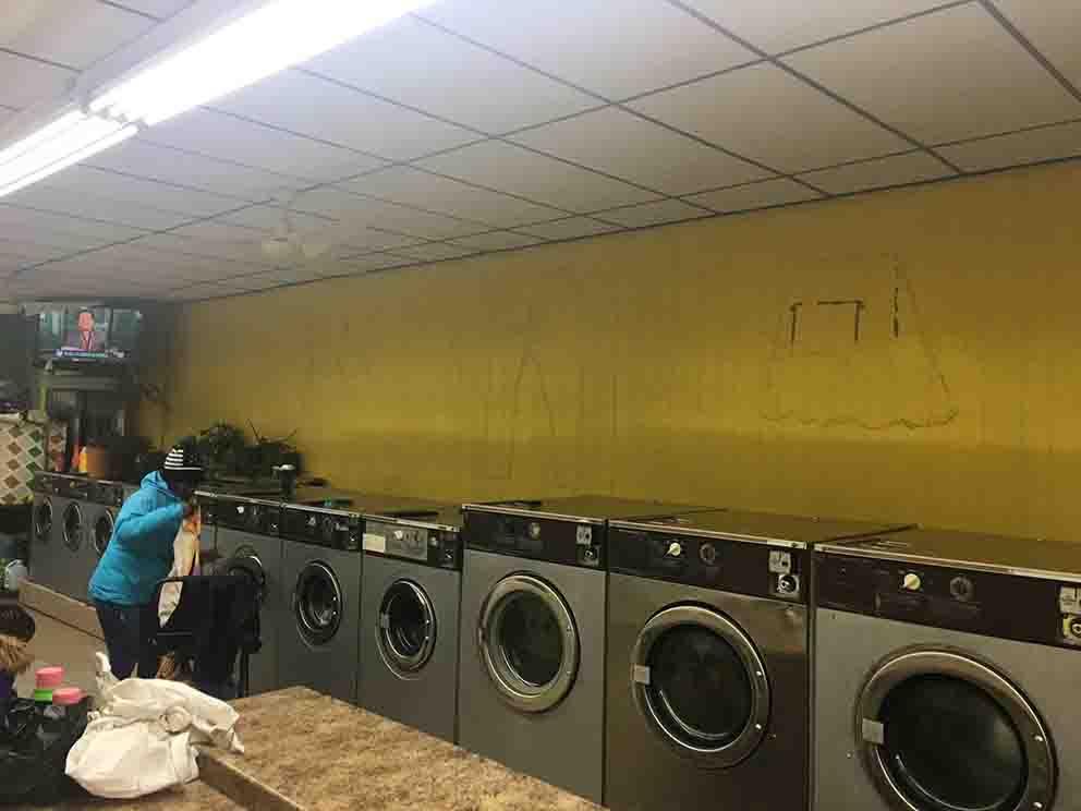 לפני - ציור למכבסה
