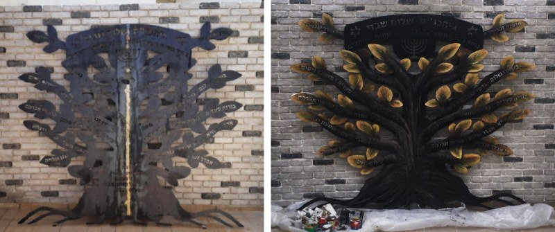 ציור על ברזל לפני ואחרי