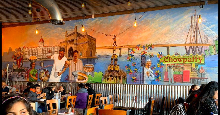 ציור על קיר למסעדה הודית