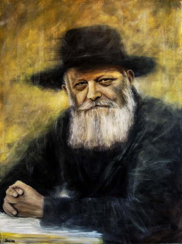 ציור של הרבי מלובביץ