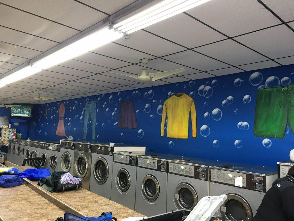 ציור קיר למכבסה