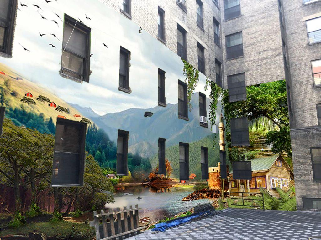 אילוסטרציה על בניין