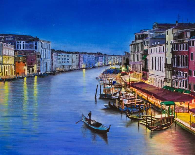 ונציה שמן על קנבס לסלון