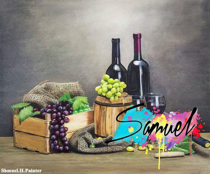 ציור שמן יין