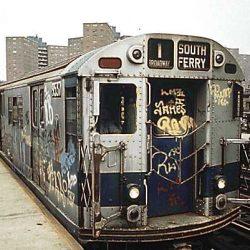 גרפיטי על רכבת בניו יורק