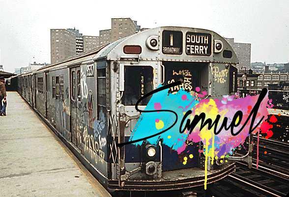 כתובות על רכבת בניו יורק
