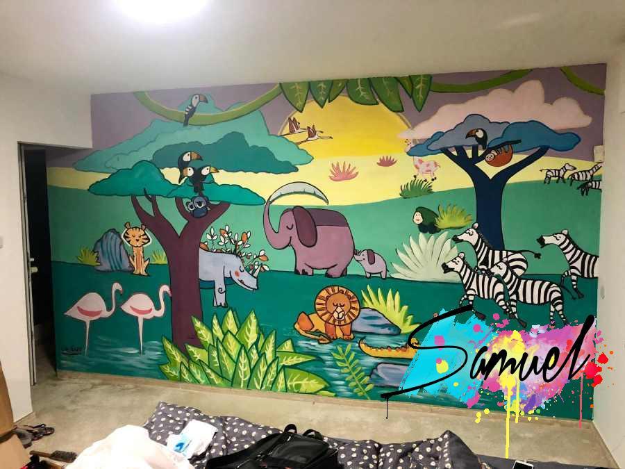 ציור קיר בחדר תינוקות