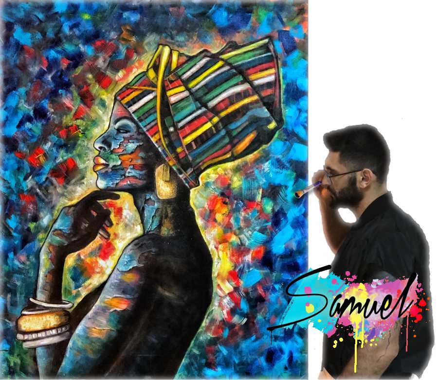 סמואל חגאי צייר קירות