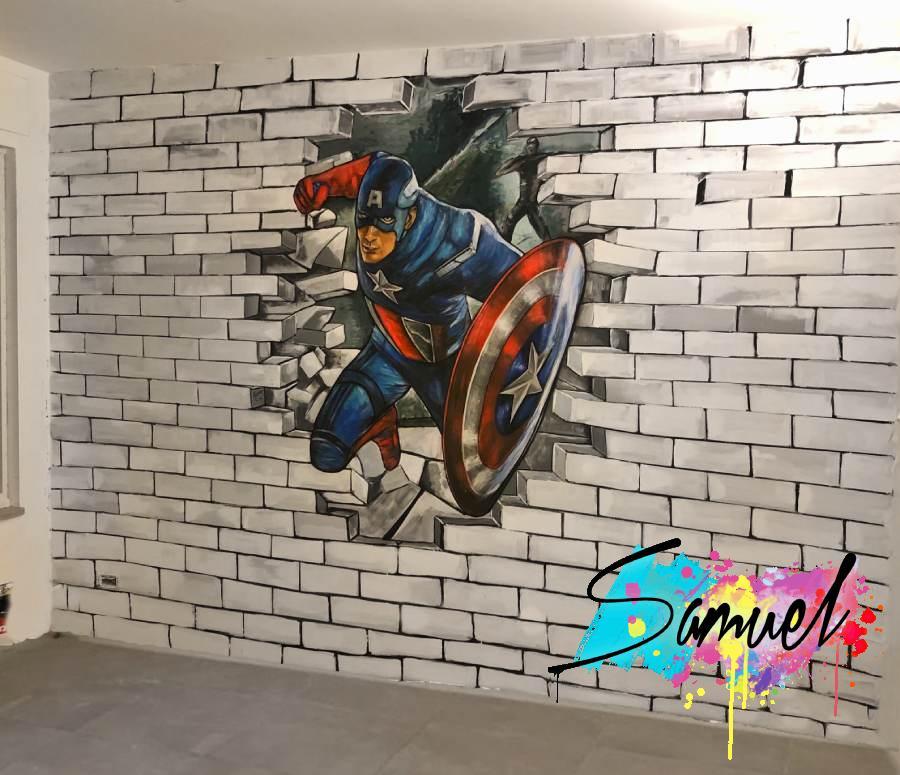 קפטן אמריקה בחדר ילדים